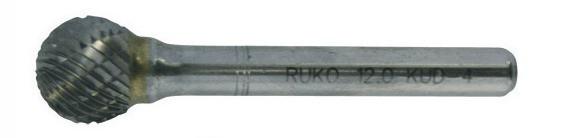 Hartmetall-Frässtifte Kugelform kreuzverzahnt Durchmesser x Länge 8 x 7 mm