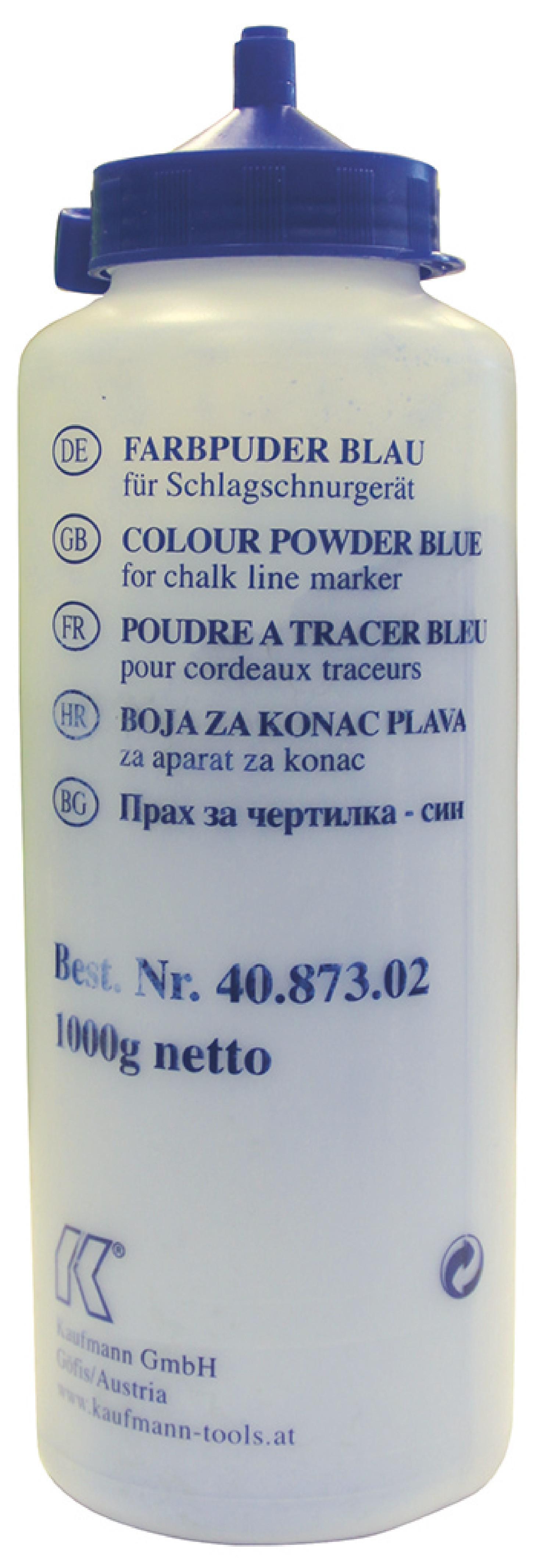 Markierungspuder 1 kg Gebinde blau