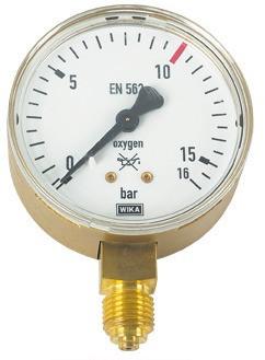 Lorch Manometer für Sauerstoff 10/16 bar