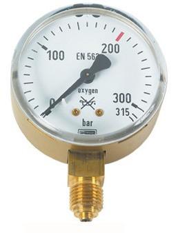 Lorch Manometer für Sauerstoff 200/315 bar