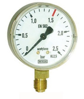 Lorch Manometer für Acetylen 1,5/2,5 bar