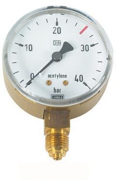 Lorch Manometer für Acetylen 18/40 bar