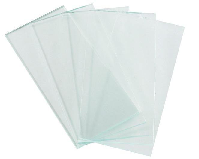 Vorsatzglas für Schutzschilder, Größe 50 x 105 mm, Farbe: farblos