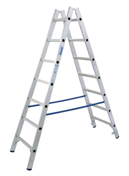 Stabilo Alu-Doppelleiter, Sprossen 2x7, Höhe 2,05 m, Arbeitshöhe 3,30 m, 7,5 kg