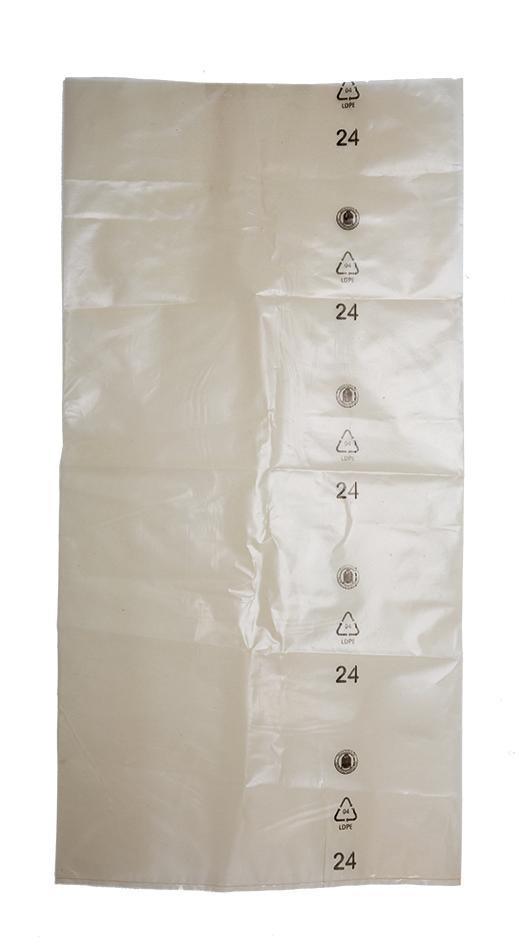 Schwergutsack transparent Inhalt ca. 50 Liter, 450x900 mm Materialstärke 160 my