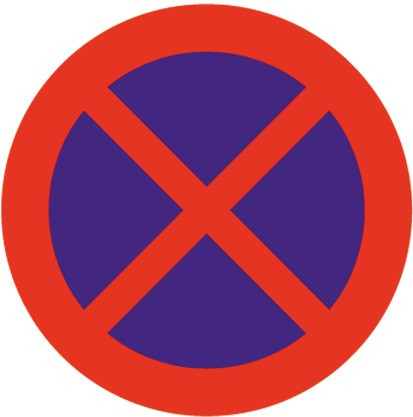 Baustellenverkehrszeichen § 52/13b Halten und Parken verboten 670 x 1,5 mm
