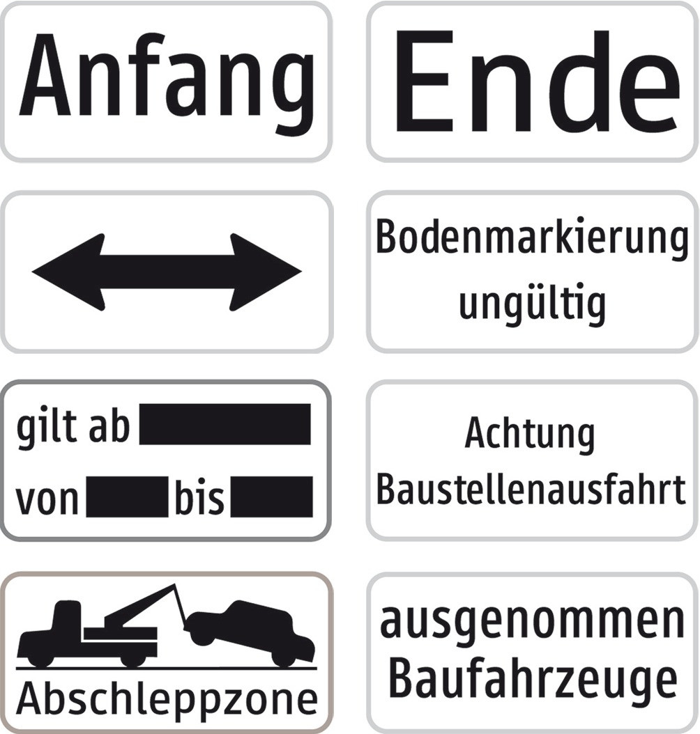 """Baustellenverkehrszeichen """"Achtung Baustelleneinfahrt"""" Aluminium 23 X 47 cm"""