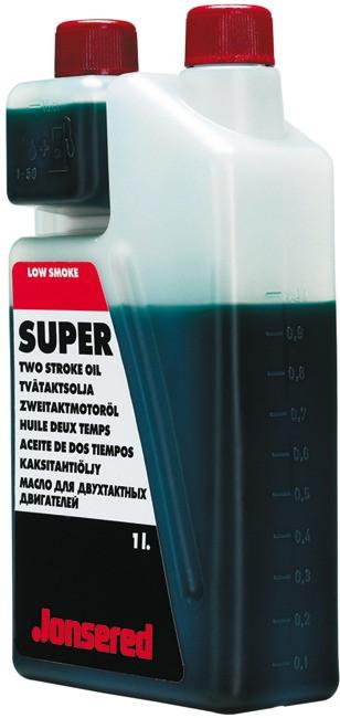 JONSERED Zweitaktmotoröl in Kanne zu 1 Liter mit Dosierflasche