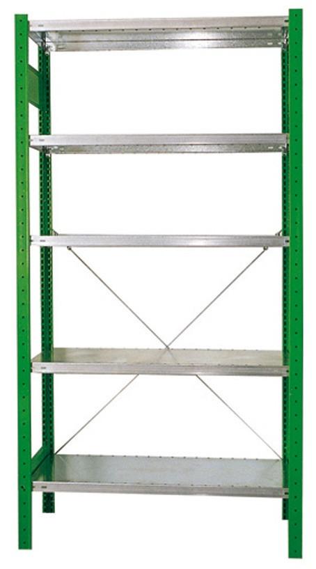 RECA Anbauregal (Zusatzteil) 2000 x 1000 x 400 mm mit 5 Fachböden