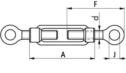 Spannschlösser M24 DIN 1480 Stahl geschmiedet mit Ösen verzinkt