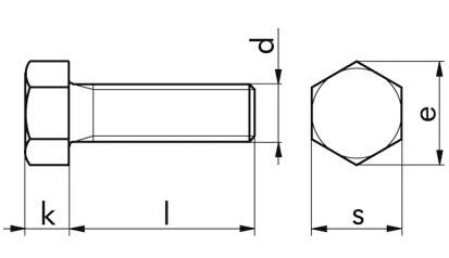 Sechskantschraube DIN 558 - 4.6 - blank - M8 X 20