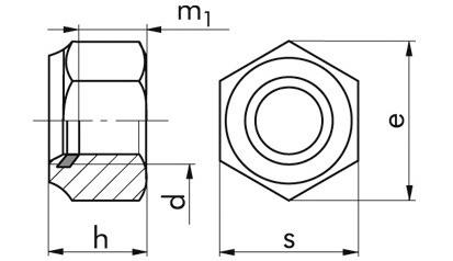 Sicherheitsmuttern M16 DIN 982 FKL 10 Stahl verzinkt