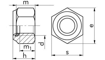 Sicherheitsmuttern mit Polyesterring M3 DIN 985 FKL 8 Stahl verzinkt