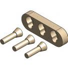 Metallfreie Konusverbindung Set A waagrecht für Mittelsteg