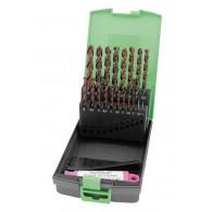 RECA kaseta spiralnih svedrov Ultra Plus HSS-O DIN 338-N, premer 1 - 13 mm, 34-delni, premer 1 - 5 mm dvojni